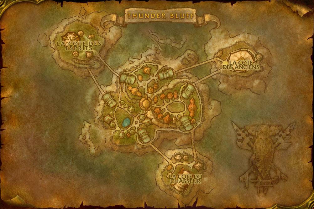 Carte de la cité des Pitons-du-Tonnerre de World of Warcraft Classic.