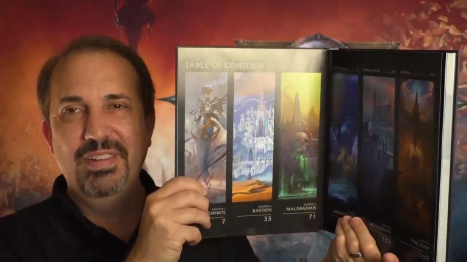Capture d'écran des annonces pour WoW : Shadowlands.